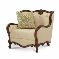 Michael Amini Lavelle Melange Traditional Chair and a Half Clearance*