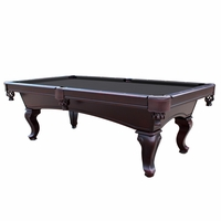 Monterey Queen Anne 8-Ft Slate Pool Table with Black Felt in Mahogany Finish