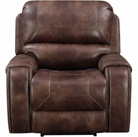 New Home Meridian Prime Resources Jennings Collection Power Recliner Mocha Brown