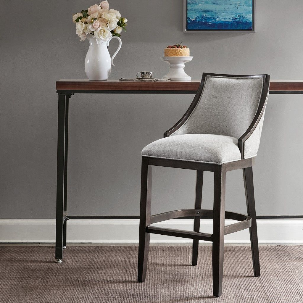 New Rory Bar Stool Solid Wood Moroccan Neutral Brown