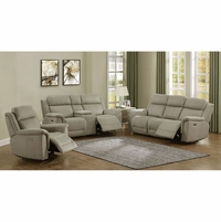 Noah Power Reclining Sofa and Loveseat Set / Optional Recliner Chair in Brown