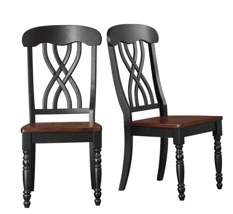 Cottage Dining Room Sets: Ohana Country Cottage Round 5pc Dining Room Set Black & Cherry