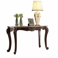 Opulent Traditional Sofa Table w/ Granite Top & Cabriole Legs