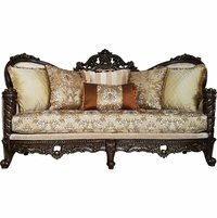 Opulent Traditional Victorian Upholstered Solid Wood Frame Sofa 85""