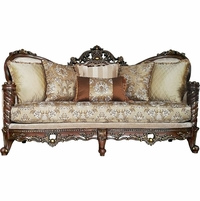"""Opulent Traditional Victorian Upholstered Solid Wood Frame Sofa 85"""""""