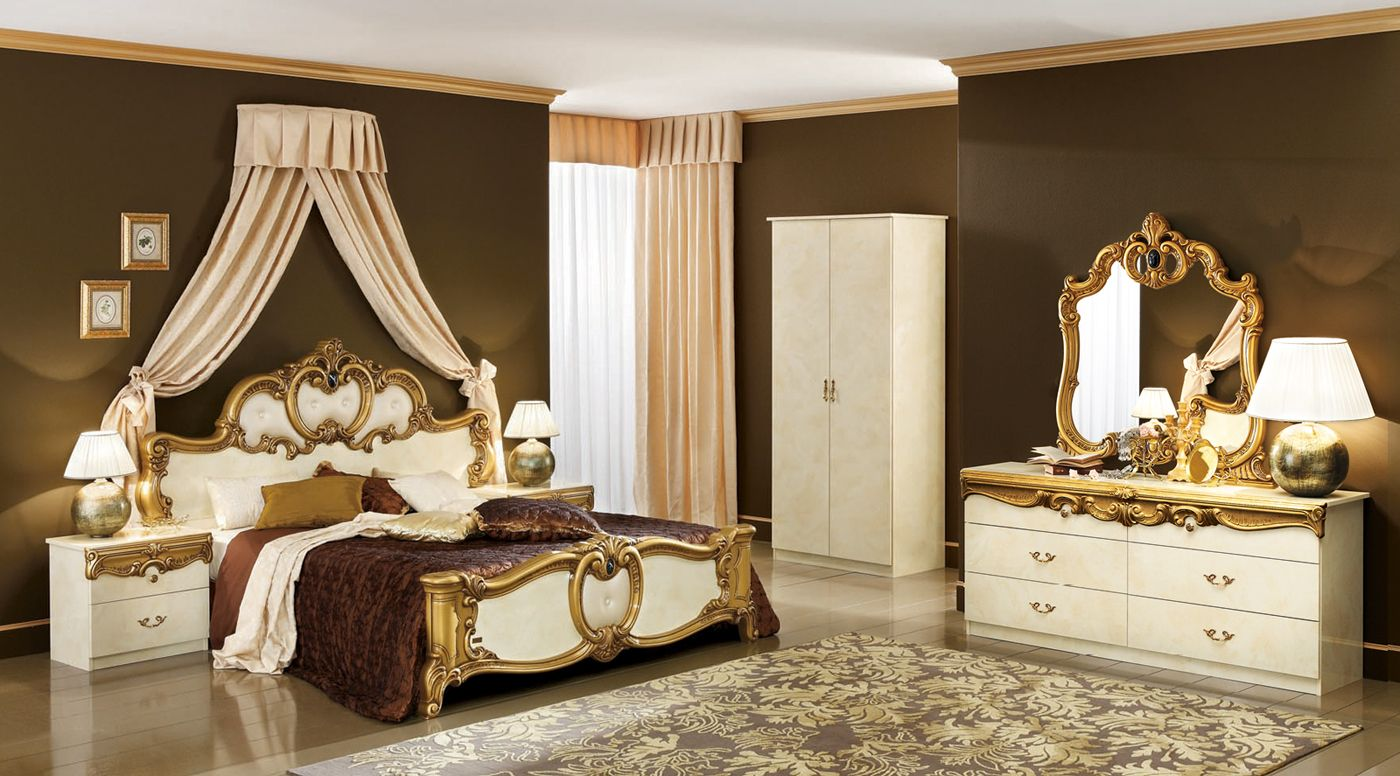 Antique White Bedroom Furniture Queen Mansion Bed