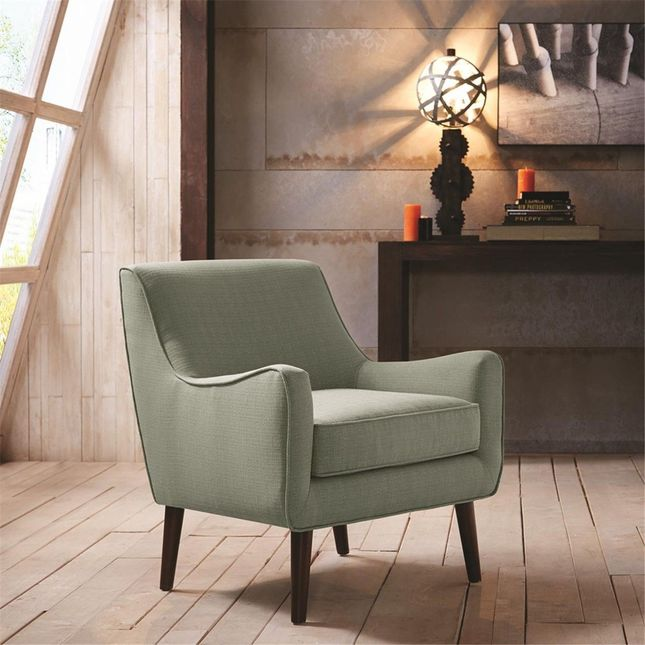 Oxford Mid-Century Modern Accent Chair Hard Wood, Eclectic, Seafoam Madison Park
