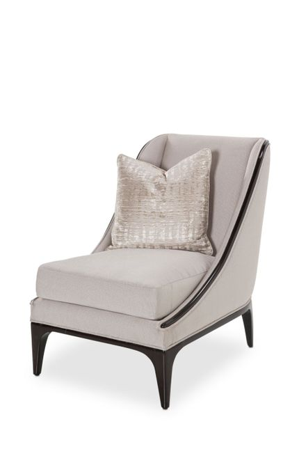 Paris Chic Platinum Espresso Accent Chair