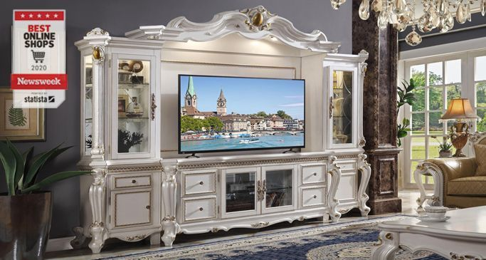 Stylish Big Screen TV Wall Unit Entertainment Centers