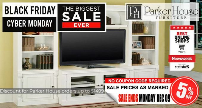 Additional 5% Off Parker House orders up to $1499