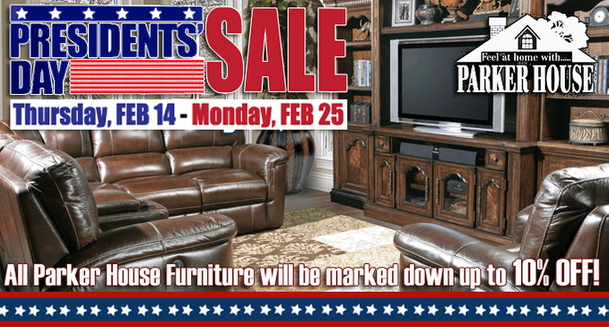 Parker House President's Day Sale
