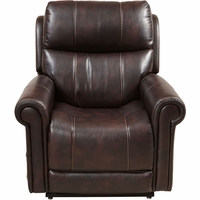 Prime Resources Bradley Faux Leather Lift Chair with Power Headrest & USB, Brown