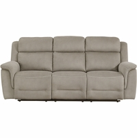 Prime Resources Noah Collection Power Reclining Sofa with Power Headrests, Brown