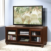 Rosa Traditional Wooden 2-Door Television Stand in Walnut Finish