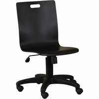 Samuel Lawrence Youth Graphite Industrial Desk Chair in Black and Silver Grey Finish