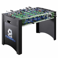 Carmelli Playoff 48-in Foosball Soccer Table with 2 Balls in Black Finish