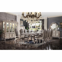 """Traditional Antique White 136"""" Table Formal Dining Room Furniture Set"""