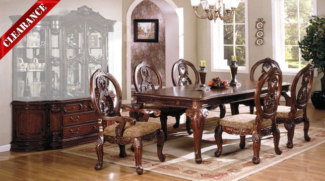 Tuscany Ii Elegant Antique Cherry 8 Pc Formal Dining Room