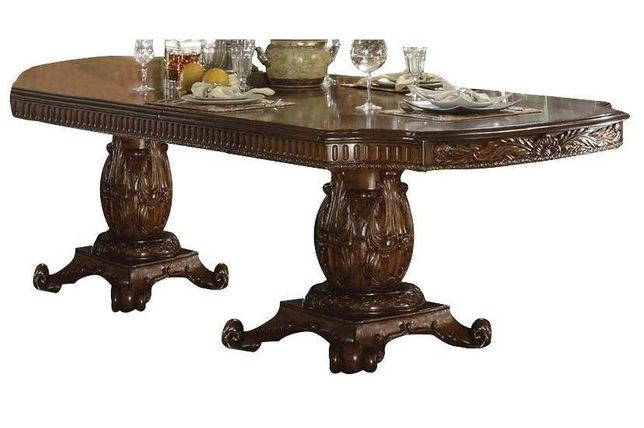 """Vendome Traditional Double Pedestal 94""""-136"""" Dining Table in Cherry Wood"""
