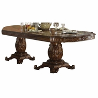 "Vendome Traditional Formal Double Pedestal 84""-120"" Dining Table In Cherry"