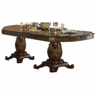 "Vendome Traditional Double Pedestal 94""-136"" Dining Table in Cherry Wood"