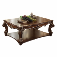 Vendome Traditional Wood Top Large Rectangular Coffee Table In Cherry