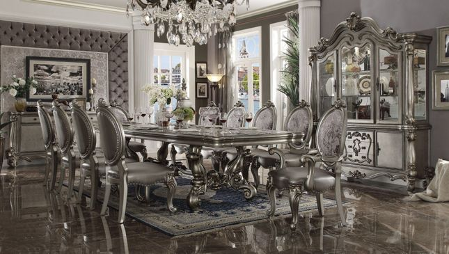 Formal Dining Table Set In Antique