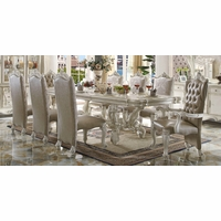 Versailles Traditional Bone White Formal Dining Room Table & Chairs Set