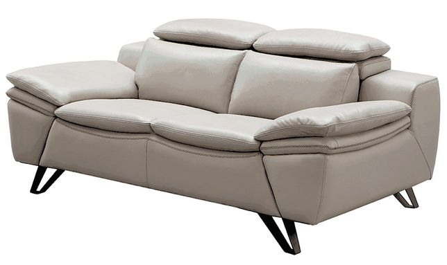 Groovy Zorion Contemporary Beige Top Grain Leather Loveseat With Bralicious Painted Fabric Chair Ideas Braliciousco