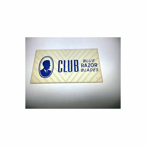 "CLUB ""Blue Chrome Steel"" Distributed by Fuller Brush Company"