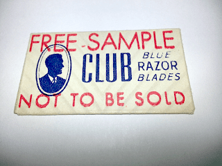 """CLUB """"Blue Chrome Steel"""" OVER STAMPED WRAPPER Distributed by Fuller Brush Company"""