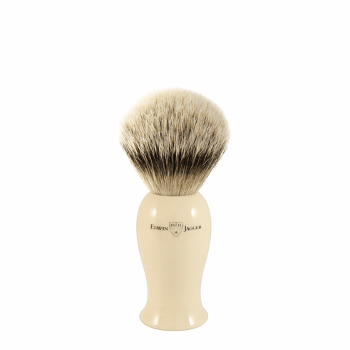 Edwin Jagger EJ107 - new TALL IVORY Badger Shaving Brushes - In Super or Best