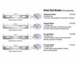 FEATHER ARTIST CLUB Blades - Low Low Pricing on Few Remaining A/C Blades