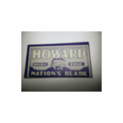 """HOWARD """"The Nation's Blade"""""""