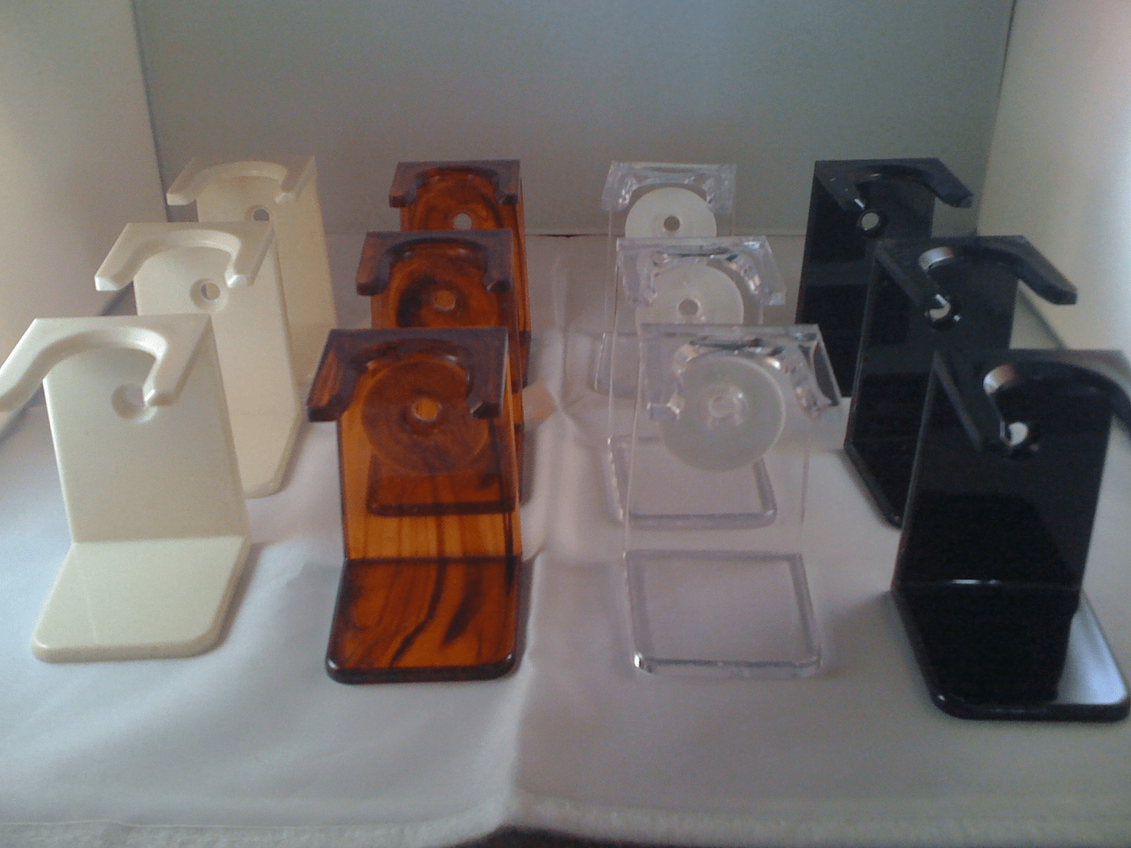 MIRRORED Finish Acrylic Brush Stands -  From Old Progress Vulfix