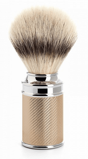 Muehle 31-M-89 RG Synthetic (V2) SilverTip Fiber Shave Brush - Gorgeous ROSE GOLD  Finish