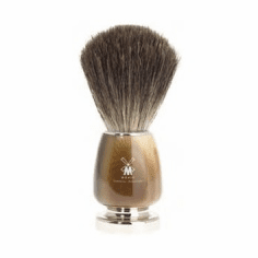 Muehle BASIC-2 81-M-312 Shave Brush -  Pure Badger Loft - Brown Faux Horn Club Foot