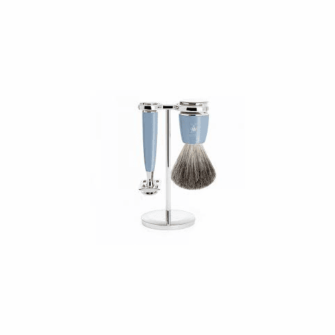 Muehle - S81M223R - RYTMO Design Series - 3 piece Shave Set in Stunning Fjord Blue