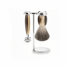 Muehle - S81M332SR - VIVO Design Series - 3 piece Shave Set in Lovely Faux Horn Resin