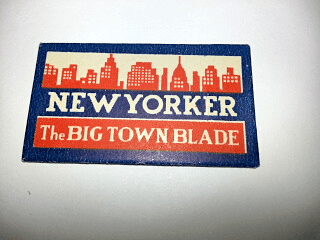 """NEW YORKER """"The BIG TOWN Blade"""""""