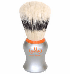 Omega #11573 - Stunning Orange Accented Matte Silver Handle - Banded Boar with  Pizzaz