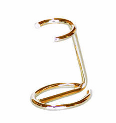 Omega #171 - Brush Stand - In Gold or Chrome