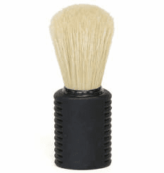 Omega #21139  - Tall and Chunky with Comfortable Black Rubber Handle - Ideal  for Shower Shavers