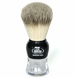 """Omega 643167 - Artificial Badger Shave Brush - Recommended by LeisureGuy as """"Best Beginners Brush"""""""
