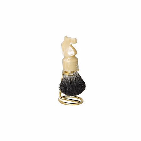 Omega #6606.15 - Pure Badger - KNIGHT ChessPiece with Custom Gold Stand