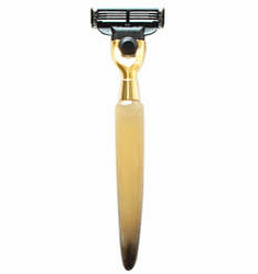 OMEGA M5226 - Horn Handle Mach 3 Compatible Razor