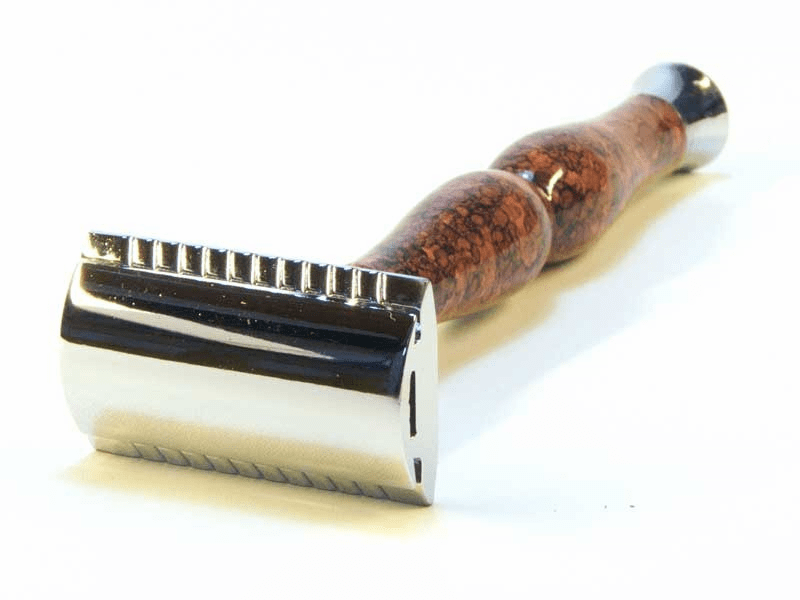 Parker 45R - Long Handle - Faux BriarWood  - Super Heavy - 3 pc razor