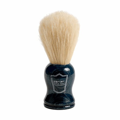 Parker Blue Wood Handle Boar Brush + FREE Acrylic Lucite Stand