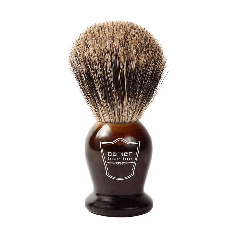 Parker THPB Pure Badger Shaving Brush - Tortoise Shell