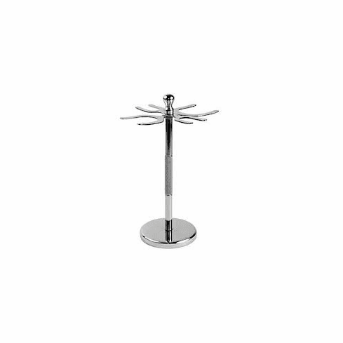 Sui Generis Deluxe 4 PRONG Stainless Steel DE Razor & Brush Stand